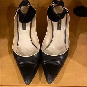 Sergio Rossi leather & velvet heels